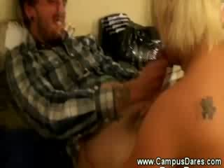 Real college slut is taking a fuck