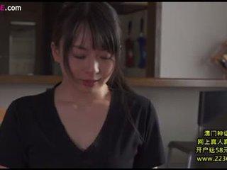 brunette, japanse, zoenen
