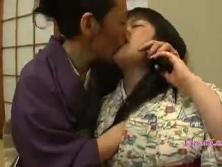 Asian Teen In Kimono gets her tits licked
