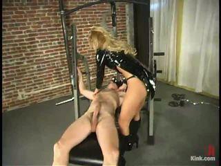 Blond domina humiliates fellow im die sports hall im dame domination vid