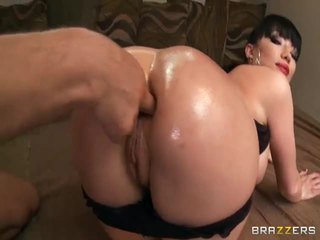 Maya Hills' Round Booty Fingered And D...