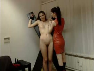 Lesbian domina session on cam