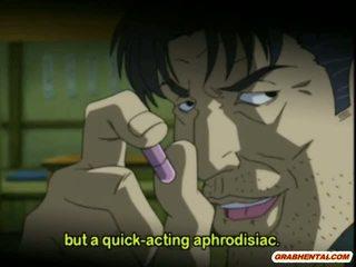 Cutie anime yhteiskoulun gets squeezed hänen tiainen ja perseestä mukaan pervert