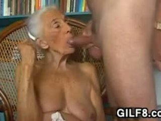 suur rind, vanaemake, blowjob
