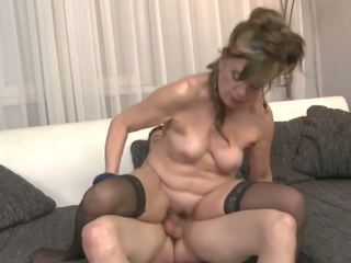 Hairy Granny gets Taboo Sex with Young Boy: Free HD Porn eb