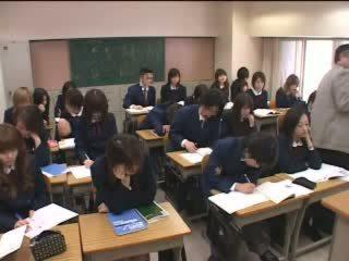 japanse, tieners, klas