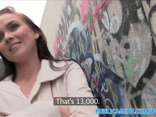 Publicagent karstās skaistule fucks stranger uz alleyway - porno video 961