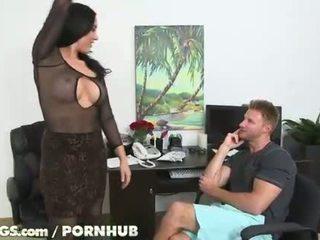brunete, big boobs, cowgirl