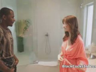 črna, interracial, masaža