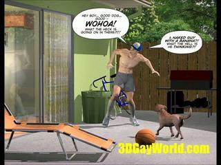 Cuming ārā amerikāņi stils 3d multene comics