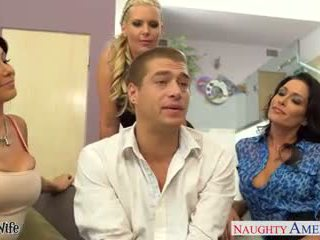 Wives Jessica Jaymes, Phoenix Marie and Romi Rain fuck in fo