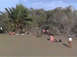 Gruppensex porno am strand von gran canaria
