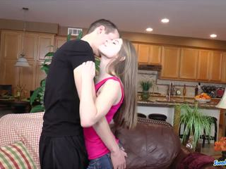 Alice march innocently opens mouth to accept huge cum deposit