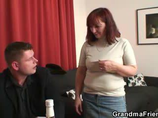 Oma loses in striptease poker