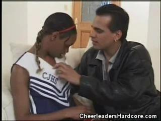 Mørk tenåring cheerleader oral jobb