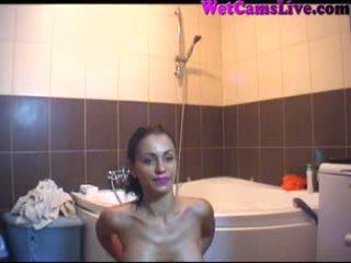 Hot Latina Great Webcam Show In Bathtub Part 6