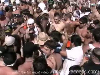 Insane spring הפסקה חוף מסיבה עם חם עירום ממשי בנות
