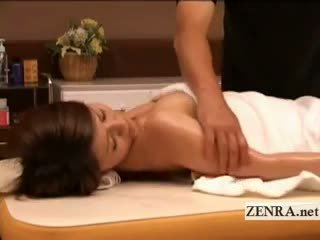 Pale Nude Japanese Milf Massaged Into ...