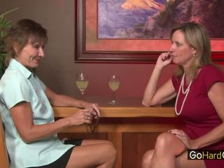 Cougar Jodi West and Lillian Tesh fuck...
