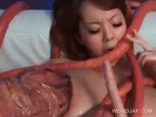 Asian Sex Slave Wrapped Up In Monster Tentacles