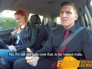 Fake Driving School Examiner Cums all Over Hairy Pussy