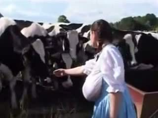 German Milk Maid: Free Funny Porn Video