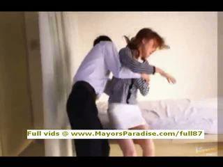 Akiho yoshizawa innocent китайски момиче gets путка licked